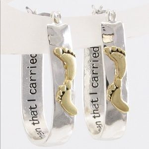 👣 Footprints in the Sand Engraved Earrings- NEW